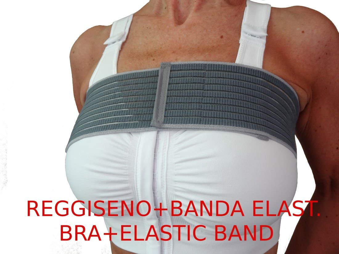 Post-op bra after breast enlargement or reduction + Elastic stabilizer band