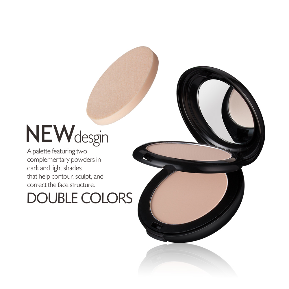 Menow Makeup Cosmetics 2 Color Face Cake Pressed Powder