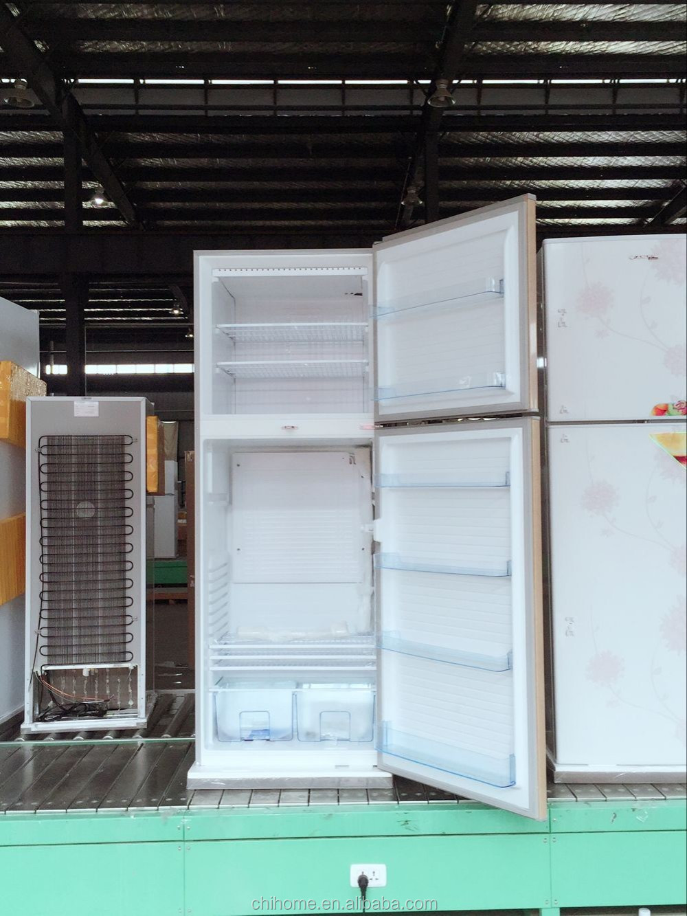 BCD-490C 490L fridge refrigerator, with outside evaporator, gas used in compressor of refrigerator