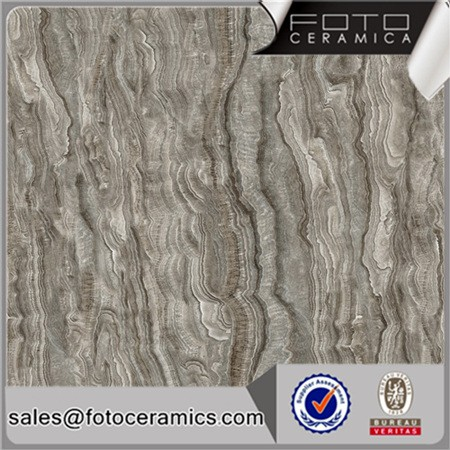 Nature stone pattern steel grey color glossy micro crystal tile