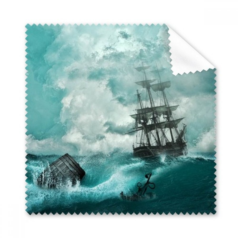 Ocean Water Wave Science Nature Picture Glasses Cloth Cleaning Cloth Gift Phone Screen Cleaner 5pcs