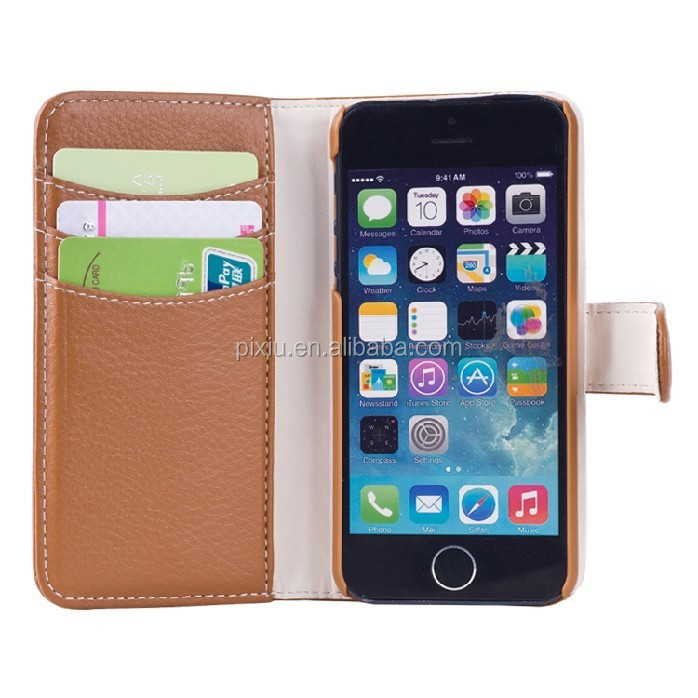 Newest Style imitation leather Case With Seperate Card Holders wholesale cheap mobile phone case