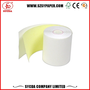 2016 most popular roll 4 ply NCR Carbon-less Computer Printing Copy Paper