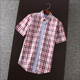 fashion slim fit style short sleeve casual checked shirt for man