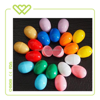 Wholesale 6*4.2cm Easter Decoration Plastic Colorful DIY Egg