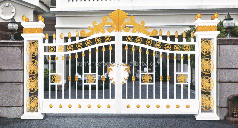 China top selling new design aluminum gate designs modern for Single gate designs for homes