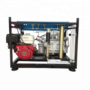 Gasoline driven breathing air compressor for fire compressor