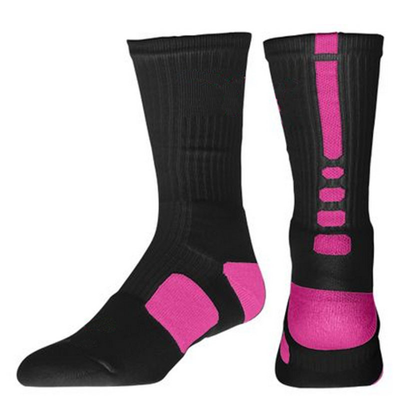 4c24fbb157e Get Quotations · 2015 elite thick cotton sport socks knee hight cotton  towel men basketball Socks long custom elite