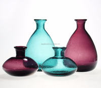SXGC wholesale colored bubble glass vase