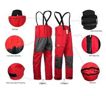sailing rain coat waterproof bib overall trousers