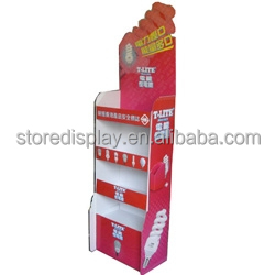China Point of Sale / Point of Purchase cardboard Retail Display Stand Manufacture Supply Custom Floor Nail Polish Display Shelf