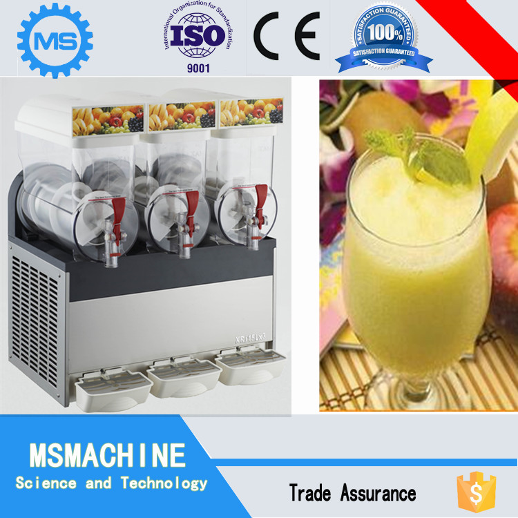 CE certified Triple tanks 12L*3 ice slush machine maker with factory low price