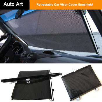 Auto Front Back Windshield Sun Shade Retractable Car Visor