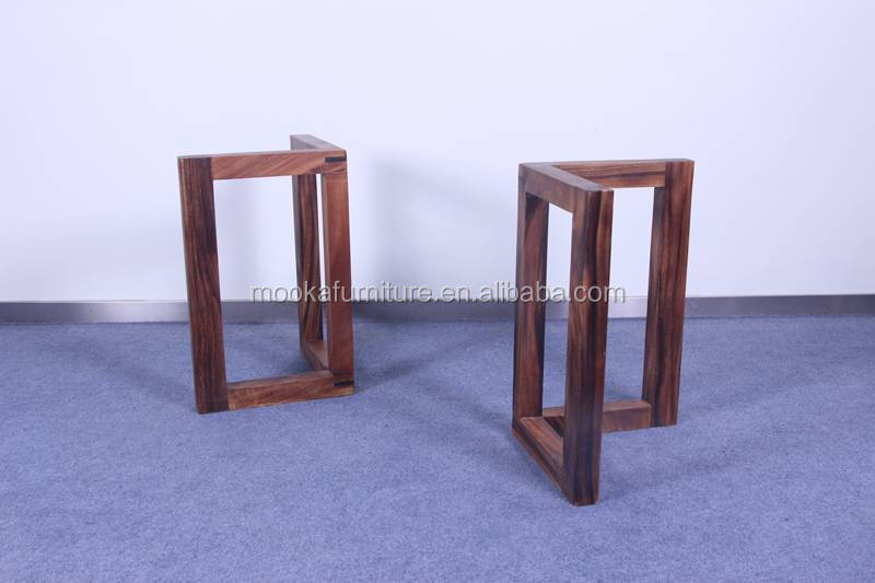 Solid Wooden Leg For Dining Table Removable Table Base