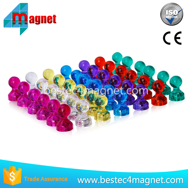 """3-1//2/"""" Length Pack of 2 Large Yellow Magnetic Clips With Neodymium Magnet"""
