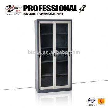 glass door bbq storage cabinet