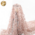Fashion design good quality glitter rose gold embroidery sequin mesh fabric with pearls