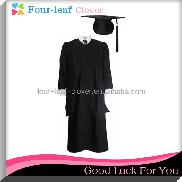 Unisex Economy Master Graduation Gown With Cap And Tassel,University Students`Graduation Gown