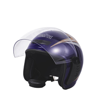 T076 Anti-scratch PC Or PET Visor Comfortable Cheek Pad Motorcycle Half Face Helmet