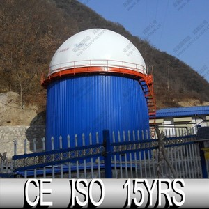 2015 Biogas Products of Spherical Membrane Roofing Mounted On Anarobic Digester Tank