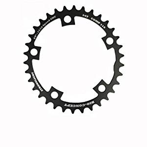 Stronglight Bio Concept CT2 Ceramic Teflon Black Time Trial 110mm Shimano Compact Chainring - 34T