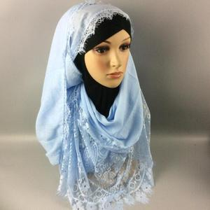 ZP sexy lace design middle eastern head scarf hijab