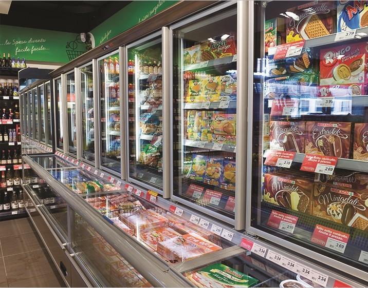 Supermarket Frozen Food Stock Display Freezer Cabinet ...