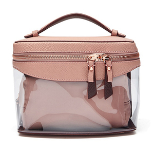 oem new design pu fashion ladies makeup bag travel foldable hanging toiletry leather cosmetic bag