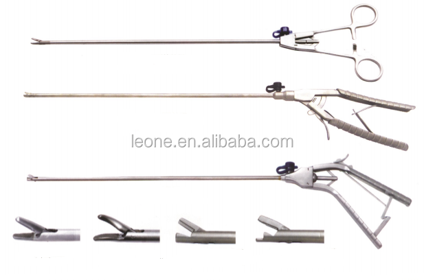 Reuseable laparoscopic needle holder with different types of head