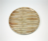 Round shape wood design plastic serving tray