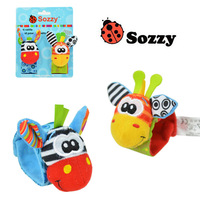 Sozzy baby plush bracelet Rattles Soft Toy Wrist Watch Band Bed Bells Baby Hand Bells Infant Appease Toys Newborn Gift bracelets