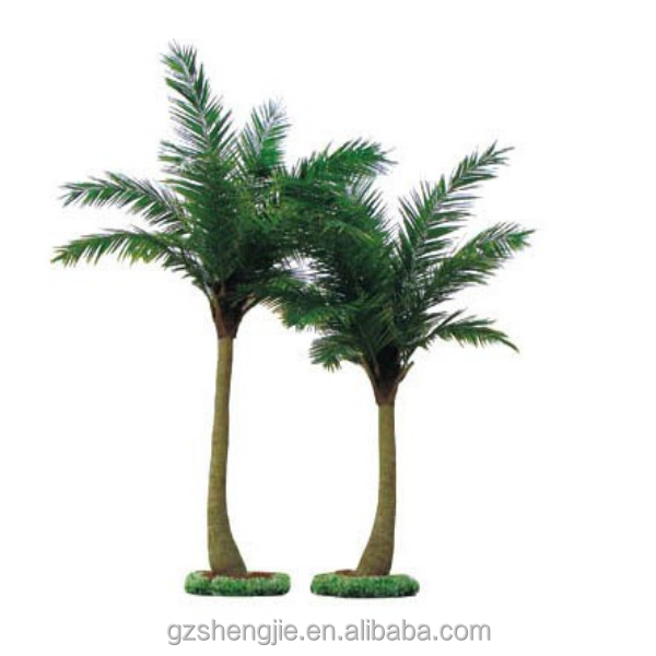 LXY07232 China supplier large outdoor bonsai trees garden decoraiton plastic artificial coconut palm tree