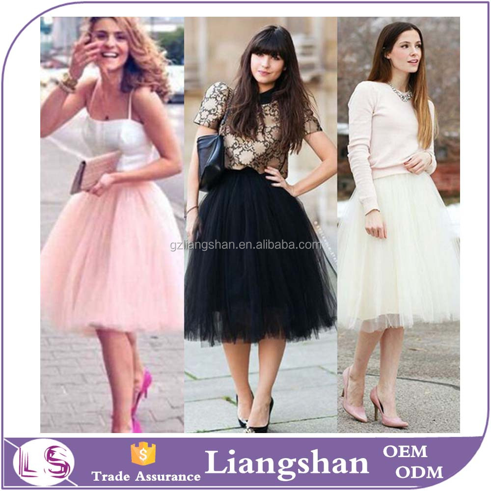 OEM Wholesale Womens Girls Princess Ballet Puffy Tulle Fluffy Tutu Skirt for Adult Wedding Prom Rockabilly Mini Skirts