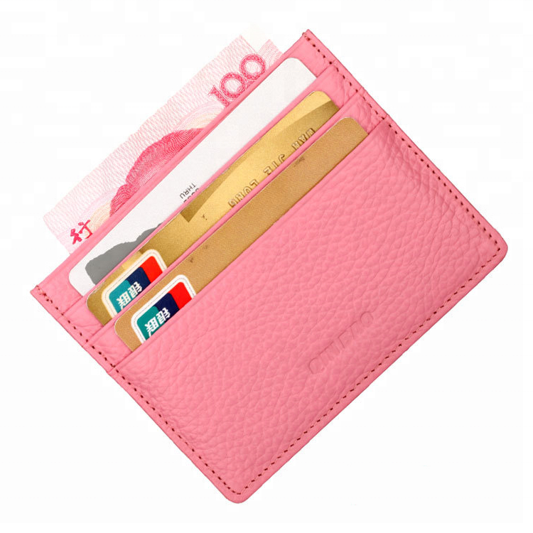 Wholesale logo custom pu/pvc leather bank card holder