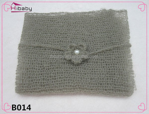 B014 The newborn photo gift Wrapped yarn crochet fabric 40 * 60 cm