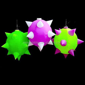 Short Spiked Globestar balloon,Inflatable bolas spiders decoration
