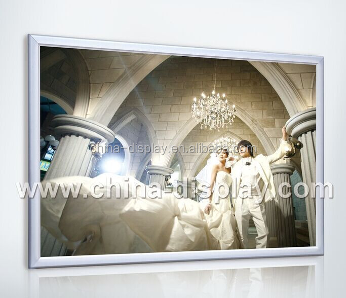 Distributor aluminum led plexiglass stand picture frame advertising cheap aluminium poster frames