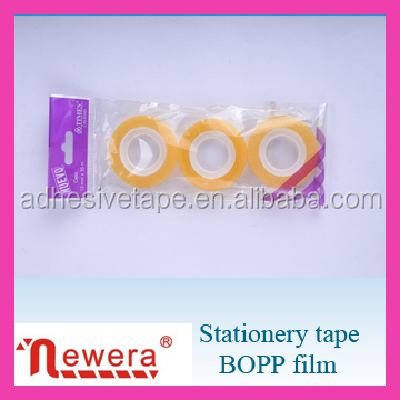 Opp Film Acrylic Material Adhesive Stationery Gum Tape in Bag Package