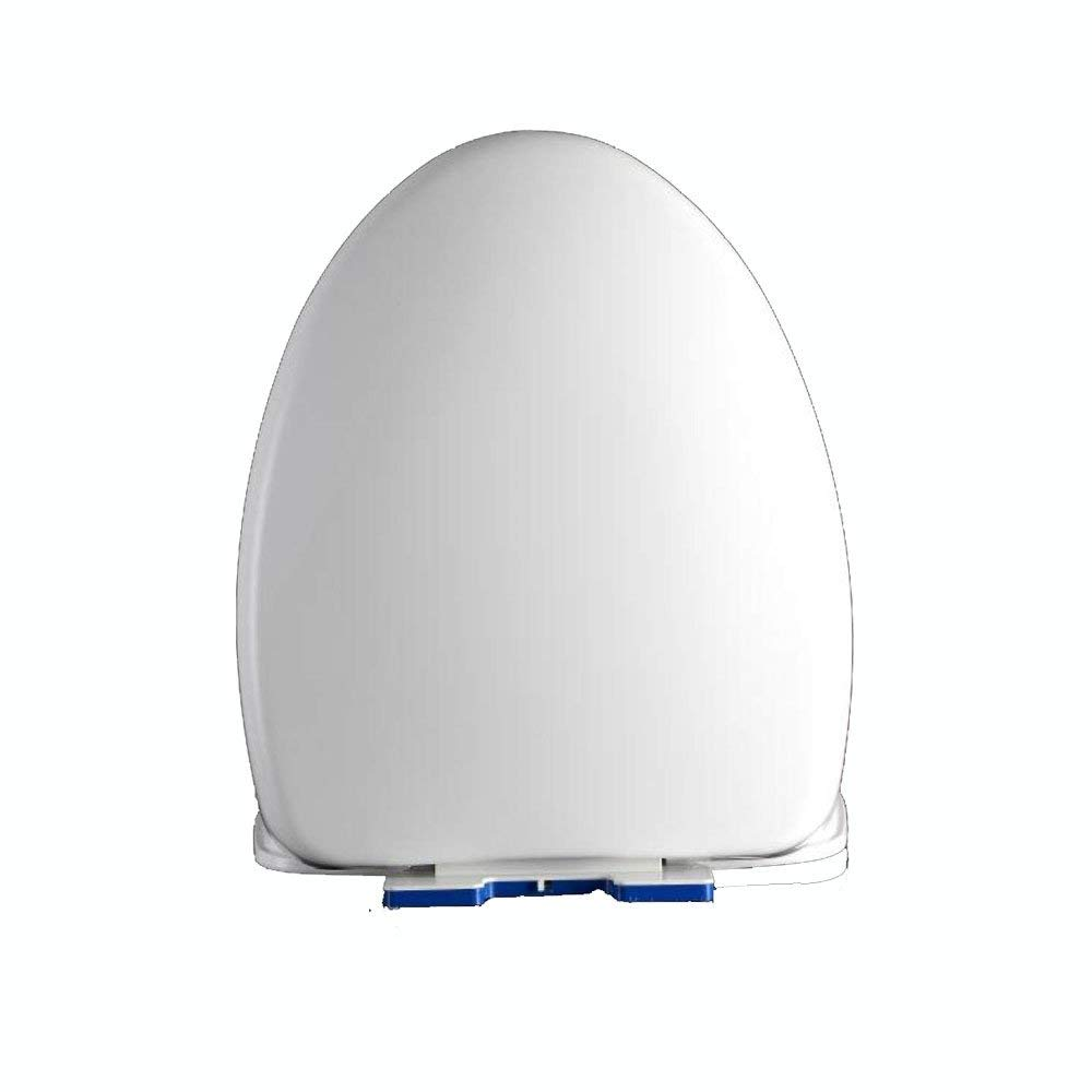 ANHPI Universal Toilet Seat V-Type Slow Down Silent Antibacterial Thickened Toilet Cover,White-44-4839cm