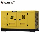 diesel power silent type yellow color 150kva generator prices