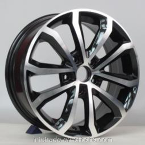 Hot-sell 18 inch black machine face alloy rims for SKODA