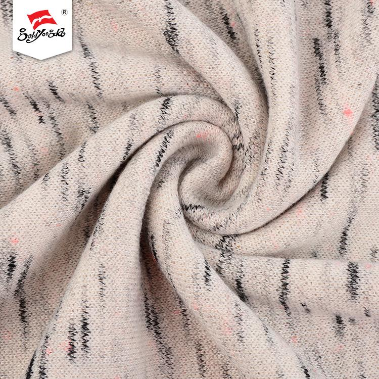 Good quality different kinds fleece soft hand feel poly dyed cotton terry fabric