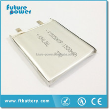li-ion batteries 3.7v 4.2v storage battery 1500mah
