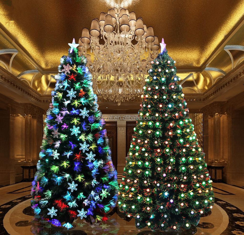 2015 decorative 7ft fiber optic christmas tree led light - 7 Ft Christmas Tree