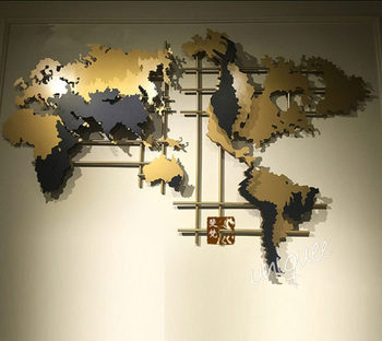 Metal decoration wall art world map buy wall world map - Decor mural grand format ...