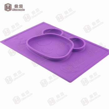 Recycled safe silicone food children tableware,plastic tableware for restaurants