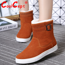 Size 35-39 Russia Winter Warm Thickened Fur Women Flat Half Short Ankle Snow Boots Cotton Winter Footwear Boot Shoes