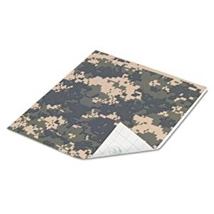 Duck Brand Tape Sheets, Digital Camo, 6/Pack 280093