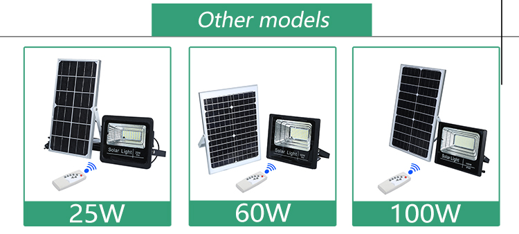 Competitive price ip67 outdoor waterproof commercial 25w 40w 60w 100w led solar flood light