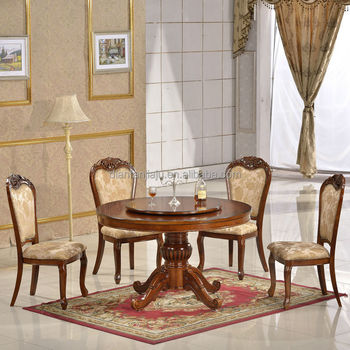 3f6dcb30a8 High Quality Antique Wooden Carved Round Dining Table Chairs - Buy ...